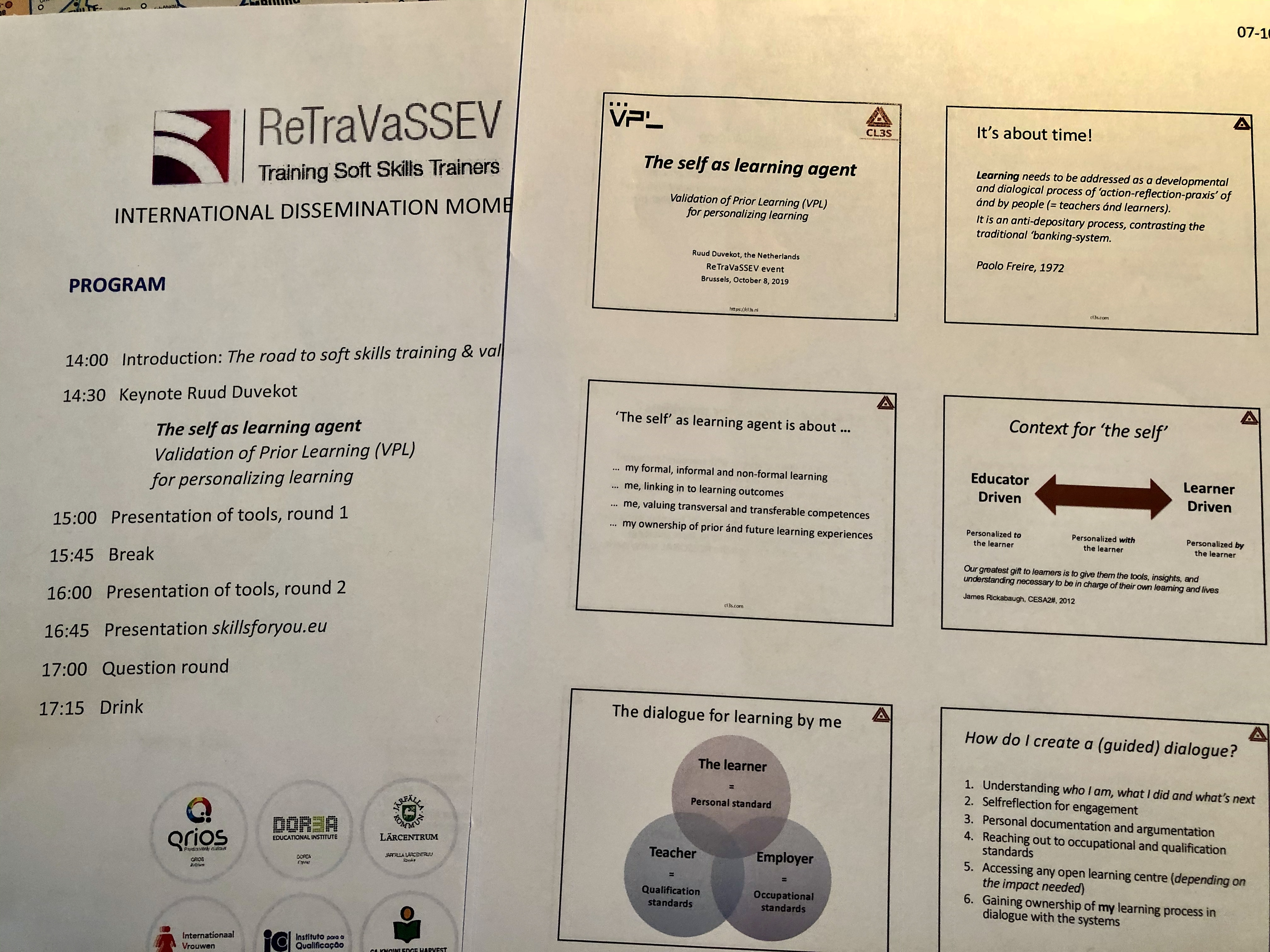 ReTraVaSSEV for soft skills